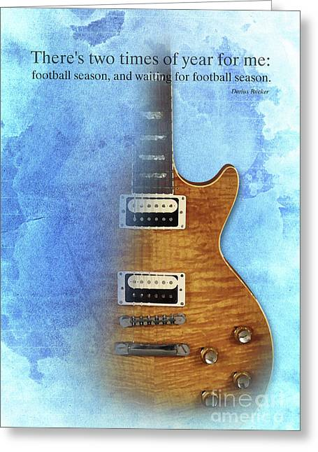 Darius Rucker Inspirational Quote, Electric Guitar Poster For Music Lovers And Musicians Greeting Card by Pablo Franchi