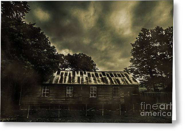 Dark Abandoned Barn Greeting Card by Jorgo Photography - Wall Art Gallery