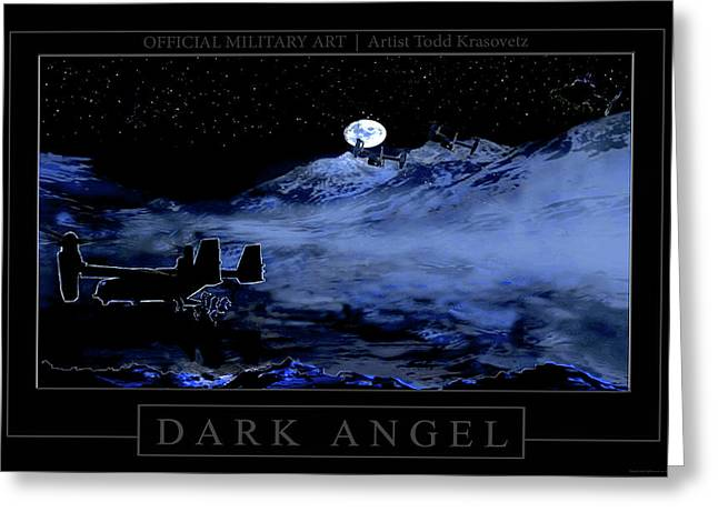 Dark Angel Greeting Card by Todd Krasovetz
