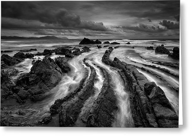 Dark Barrika Greeting Card by Antonio Carrillo Lopez