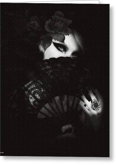 Dark Beauty 02 Greeting Card