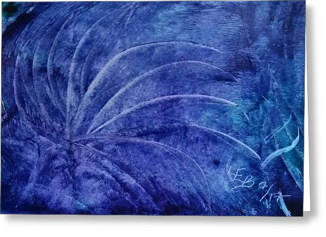 Dark Blue Abstract Greeting Card