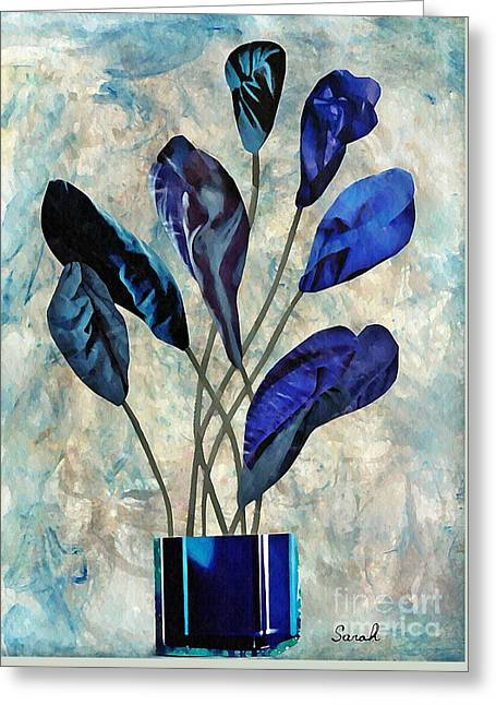 Dark Blue Greeting Card by Sarah Loft
