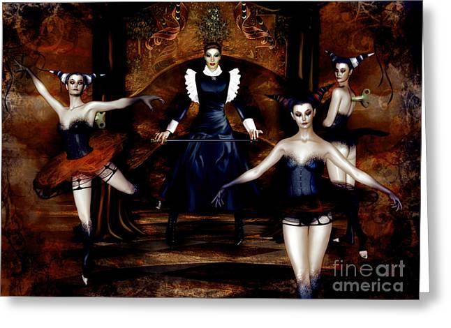 Dark Cabaret Greeting Card by Shanina Conway