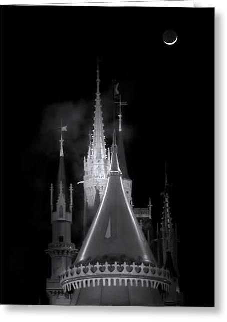 Greeting Card featuring the photograph Dark Castle by Mark Andrew Thomas