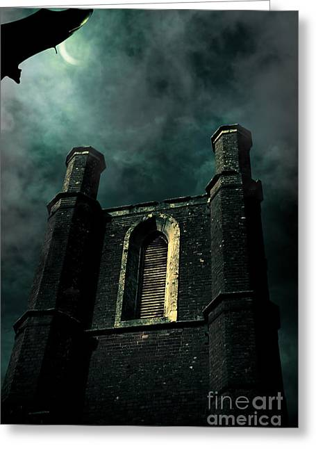 Dark Castle Greeting Card by Jorgo Photography - Wall Art Gallery