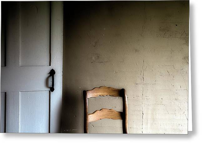 Greeting Card featuring the photograph Dark Chair Olson House by Craig J Satterlee