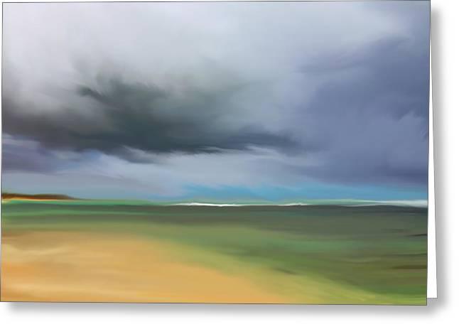 Dark Cloud - Punta Cana Greeting Card by Dennis Kirby