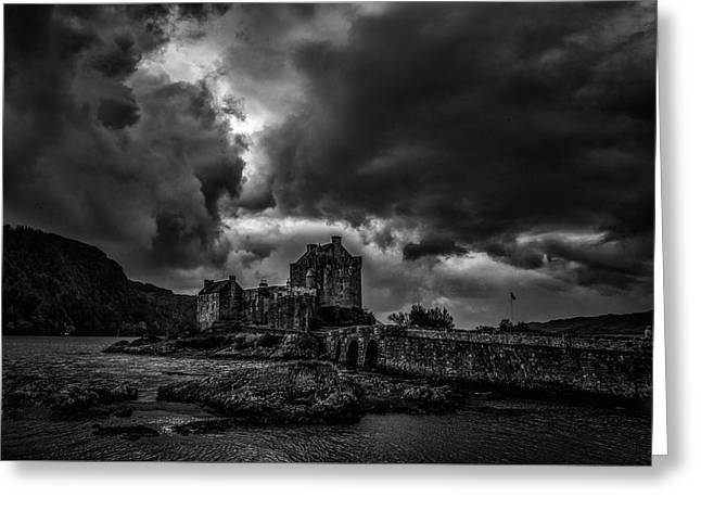 Dark Clouds Bw #h2 Greeting Card