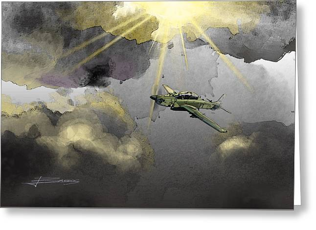 Dark Clouds Greeting Card by Nelson Barros