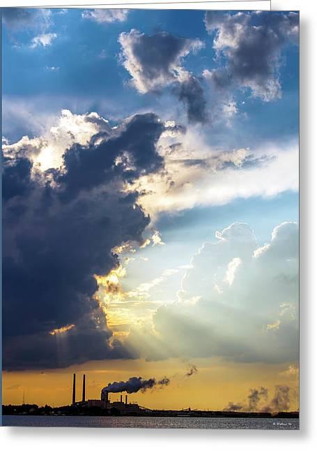 Dark Clouds On The Horizon Greeting Card