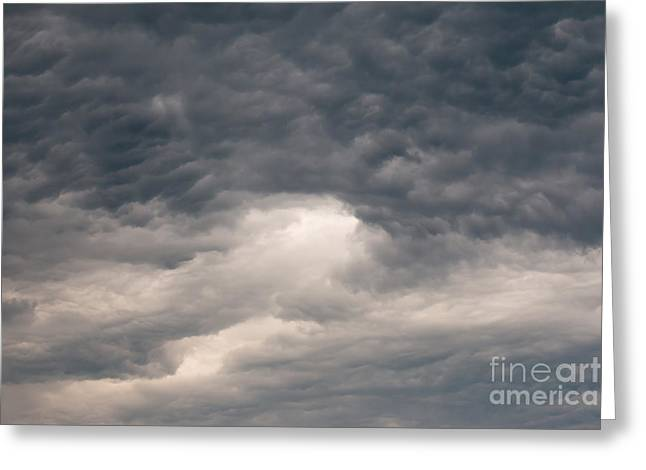 Dark Clouds On The Sky Greeting Card by Michal Boubin