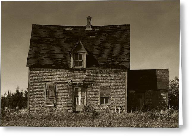 Dark Day On Lonely Street Greeting Card by RC DeWinter