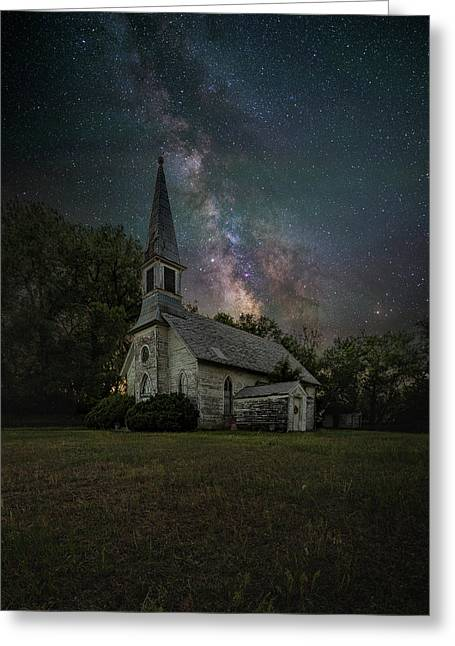 Greeting Card featuring the photograph Dark Enchantment  by Aaron J Groen