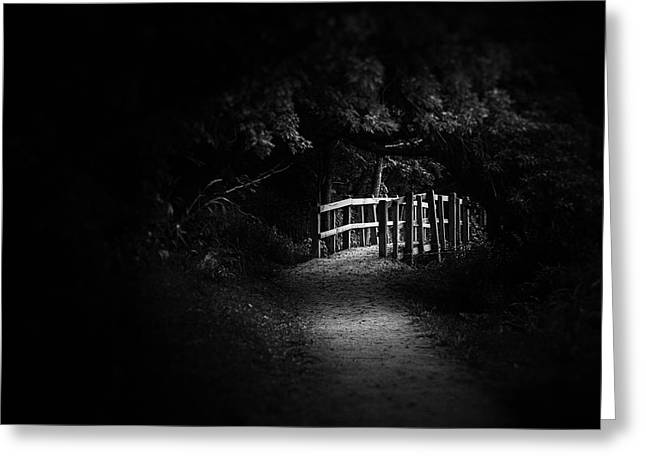 Dark Footbridge Greeting Card