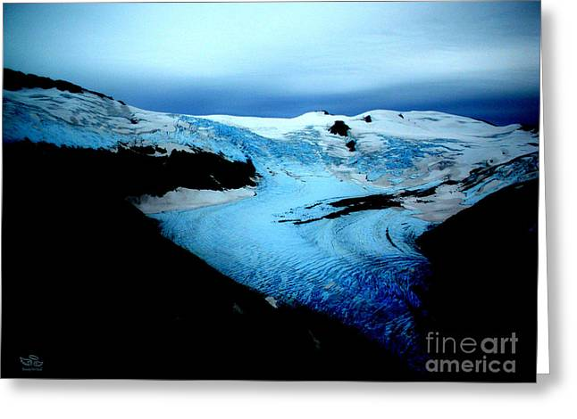 Greeting Card featuring the photograph Dark Glacier by Beauty For God