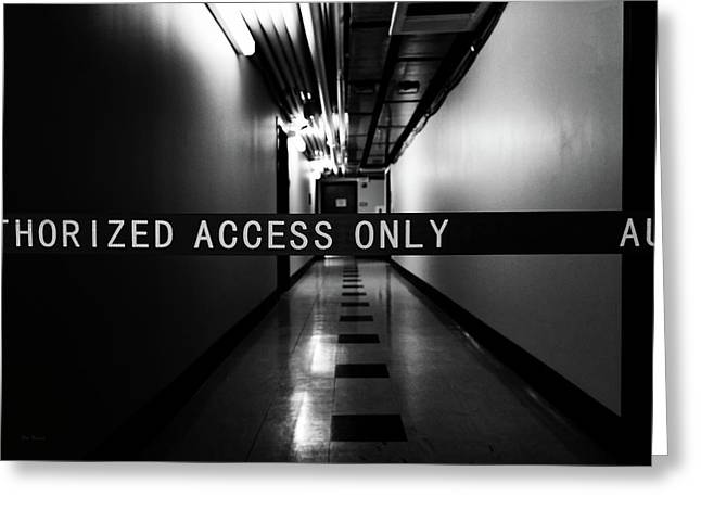 Dark Hallway Greeting Card by Bob Orsillo