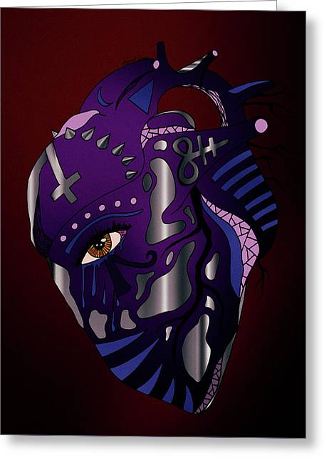 Dark Heart Greeting Card by Kenal Louis