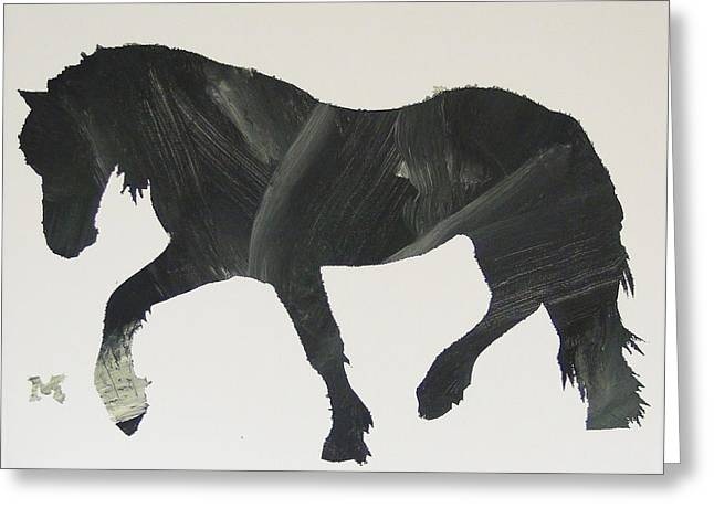 Dark Horse Coming Greeting Card