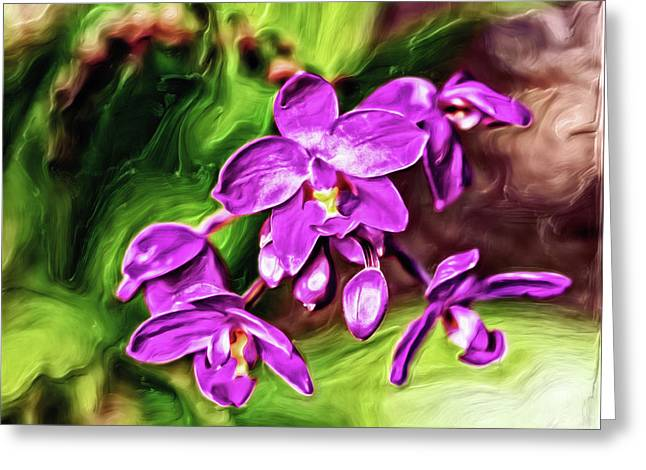 Greeting Card featuring the digital art Dark Magenta by Doctor Mehta