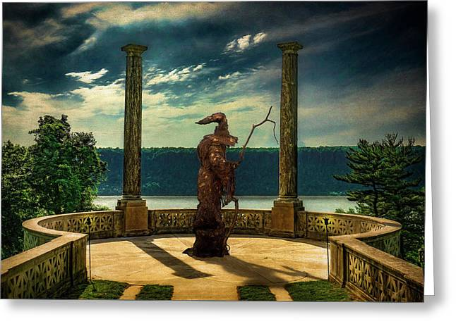 Greeting Card featuring the photograph Dark Magic At Sunset By The Hudson by Chris Lord