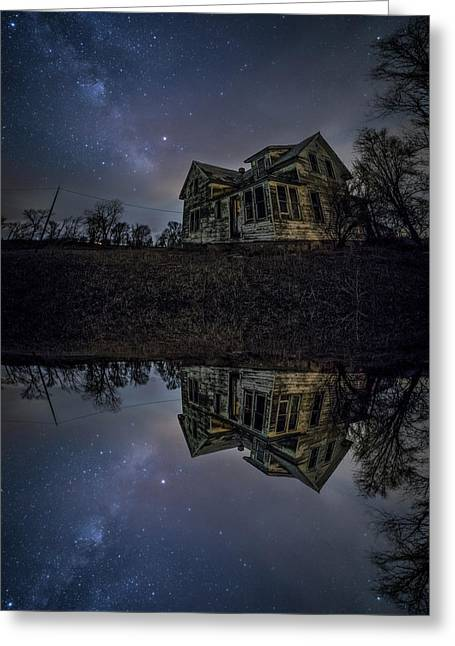 Greeting Card featuring the photograph Dark Mirror by Aaron J Groen