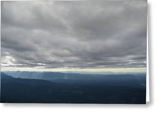 Dark Mountains Greeting Card