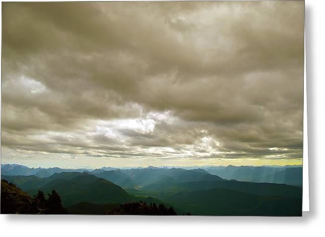 Dark Mountains Too Greeting Card