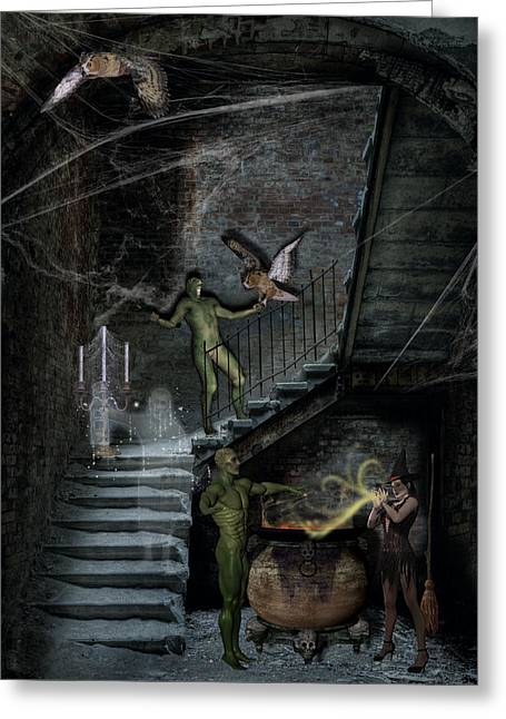 Dark Of The Night Greeting Card by Solomon Barroa