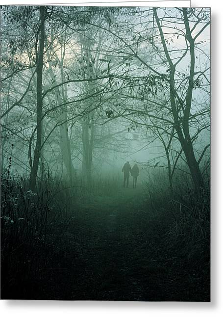 Dark Paths Greeting Card by Cambion Art