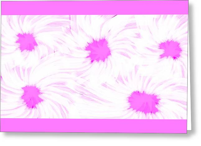 'dark Pink And White Flower Abstract' Greeting Card