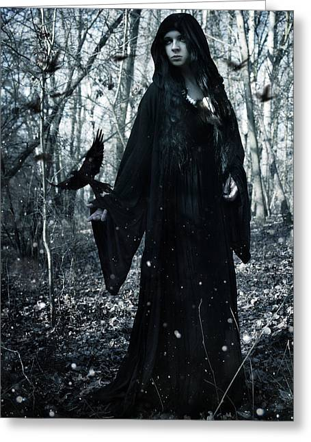 Dark Priestess Greeting Card by Cambion Art