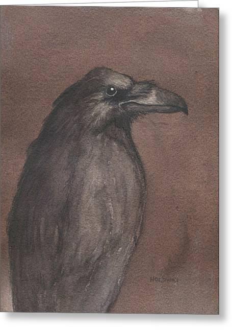 Dark Raven Greeting Card
