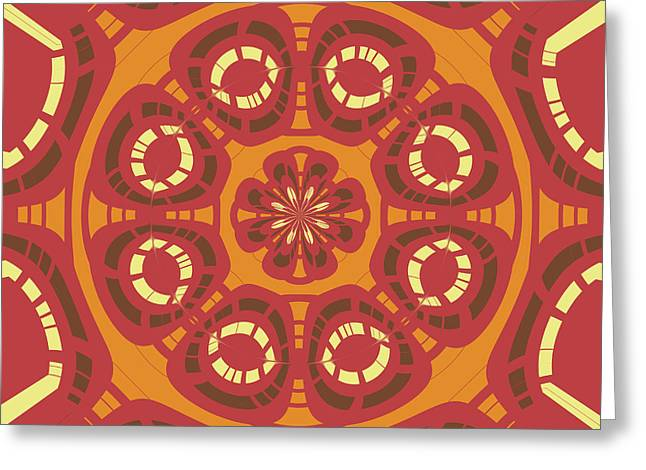 Dark Red Abstract Greeting Card