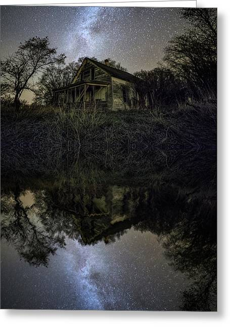 Greeting Card featuring the photograph Dark Reflection by Aaron J Groen