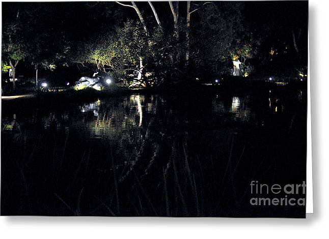 Dark Reflections Greeting Card by Clayton Bruster
