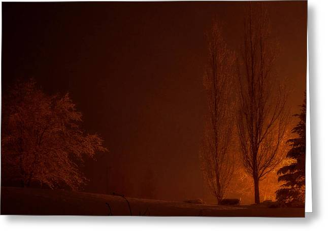 Dark Rising Greeting Card by Brian Fisher