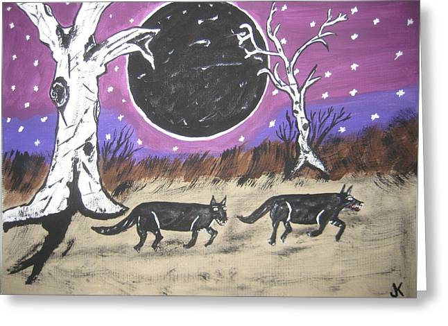 Dark Side Of The Moon Greeting Card by Jeffrey Koss