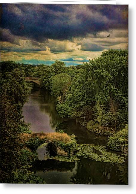Dark Skies Over The Avon Greeting Card by Chris Lord