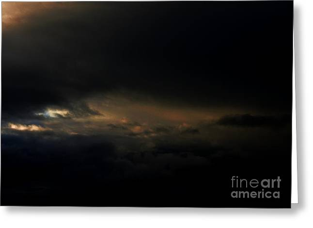 Greeting Card featuring the photograph Dark Sky by Erica Hanel