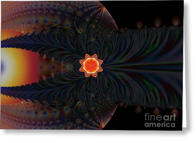 Dark Space Fractal  Greeting Card