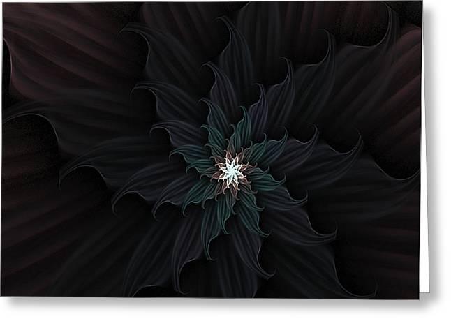 Dark Star Flower Greeting Card