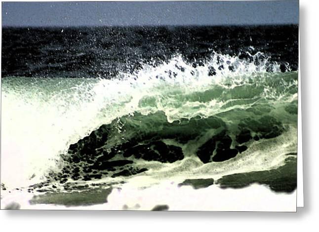 Dark Stroke Wave Greeting Card by Kimberly Klein