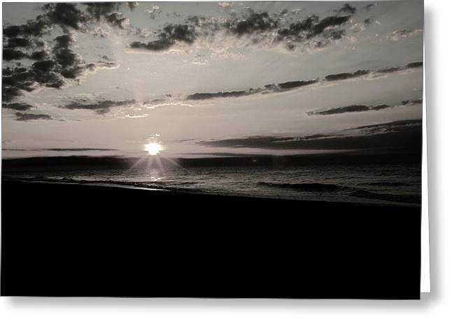 Dark Sunrise Greeting Card by Gregory Letts