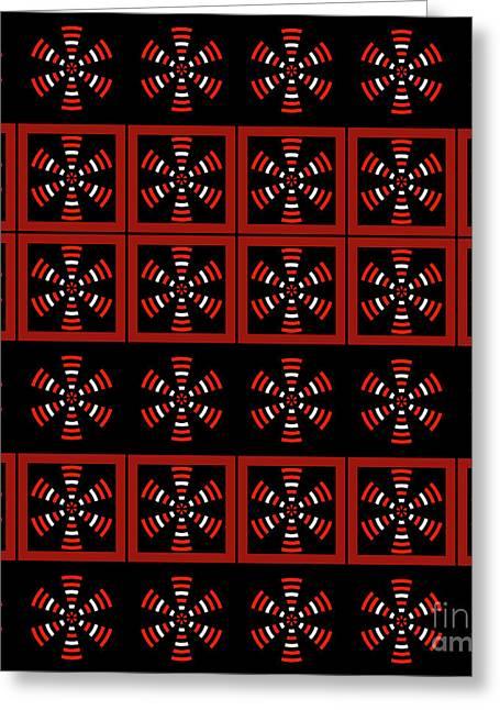 Dark Tiled Pattern Greeting Card