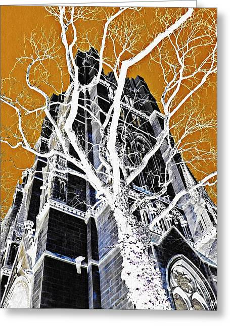 Dark Tower Greeting Card by Sarah Loft