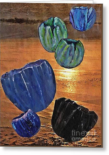 Dark Tulip Sunset Greeting Card by Sarah Loft
