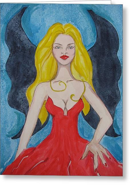 Dark Wings II Greeting Card by Lindie Racz