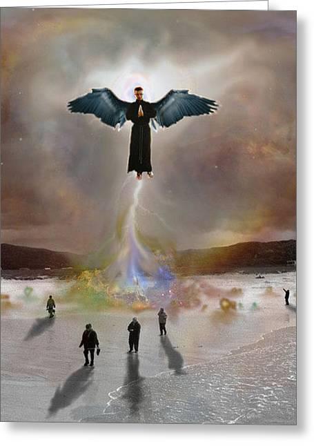 Darkened Heavens Greeting Card by Crescentia Mello