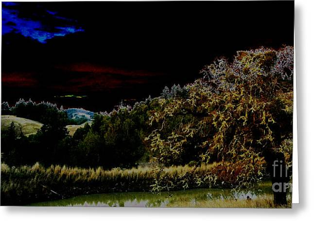 Darkness At The Edge Of Dawn Greeting Card by JoAnn SkyWatcher